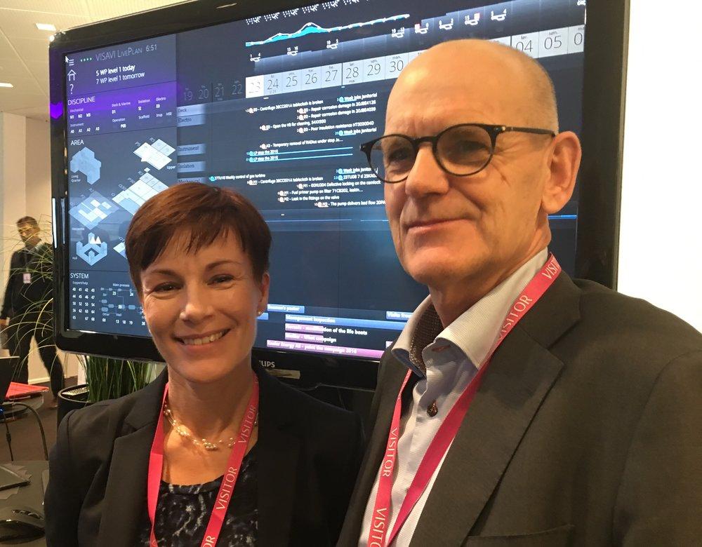 Kristina Maria Holm, Chair, and Jon Stærkebye, CEO of VISAVI