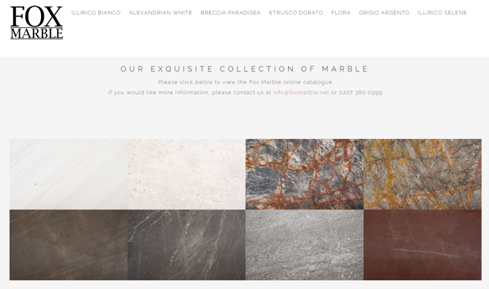 - To view the Fox Marble stone block catalogue, please click the image and contact sales for access