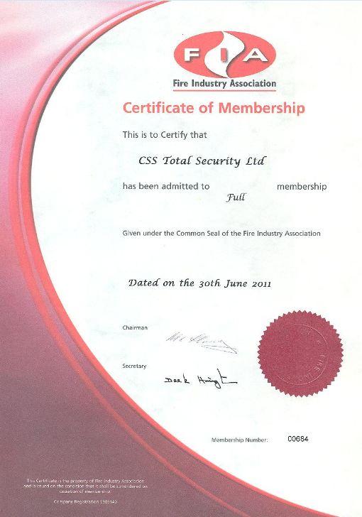 FIA Certificate