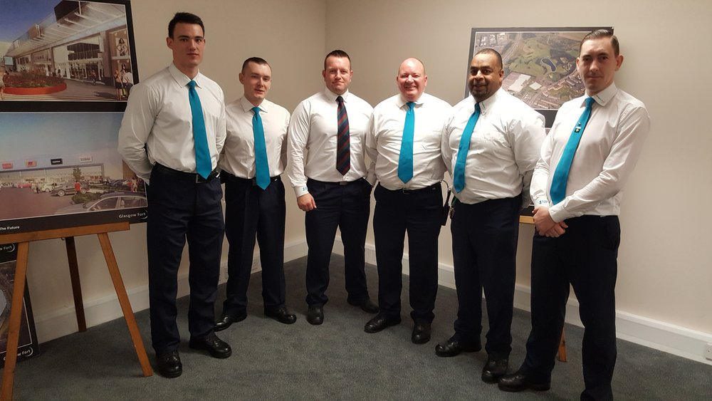 The Croma Vigilant Security Team at Glasgow Fort who are nominated for Outstanding In House Security Team