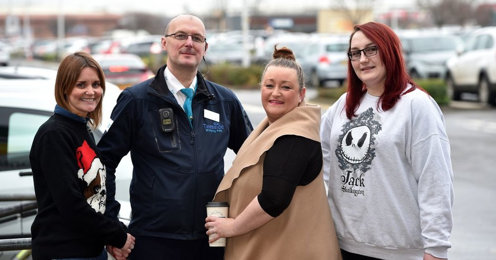(From left to right) Kelly Mcavoy and Chris Sturman, Teesside retail park. Kelly Bedford and Toni Louise Dawson, Greggs.
