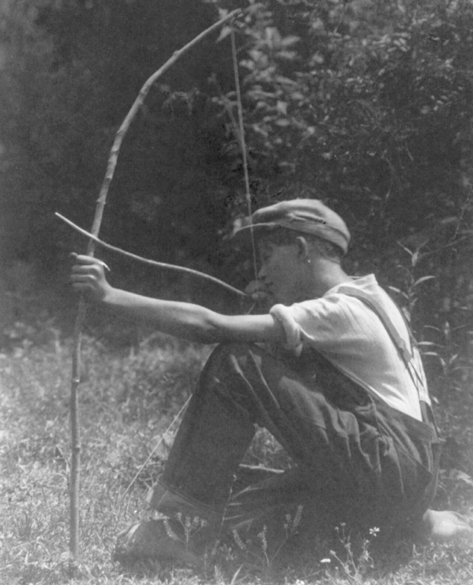 Boy with Bow and Arrow, Doris Ulman, 1933, US Library of Congress