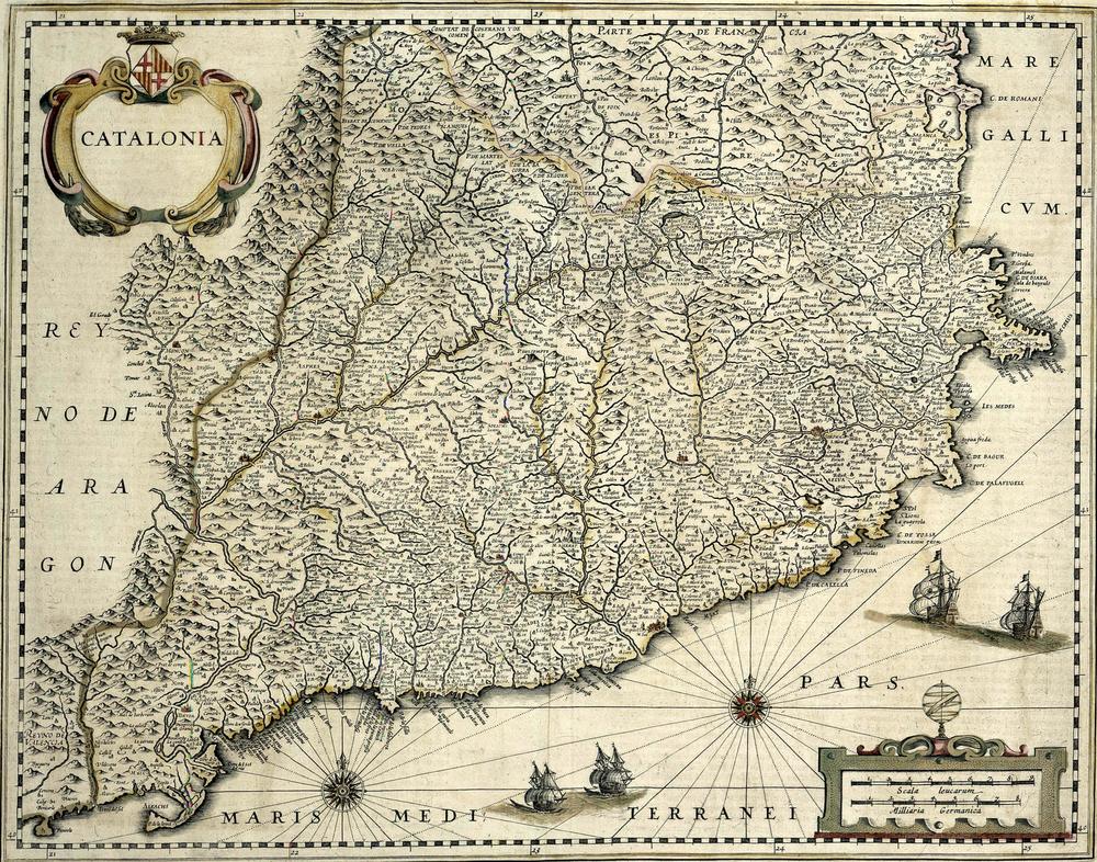 Catalonia ,Willem Janszoon Blaeu,Amsterdam: 1634-1662