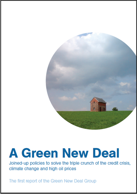 The report is published on behalf of the Green New Deal Group by nef, 2008