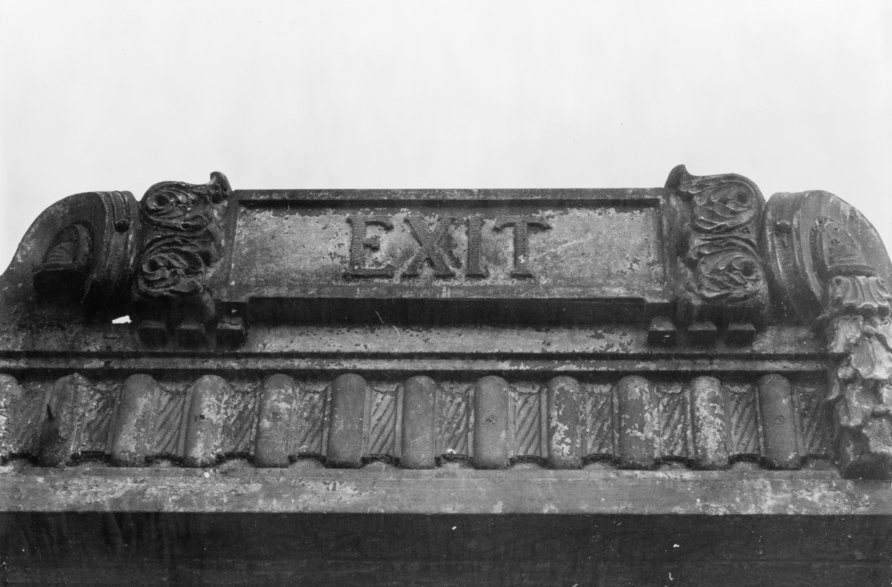 Detail of 'Exit' Sign, New York, Library of Congress Prints and Photographs Division Washington
