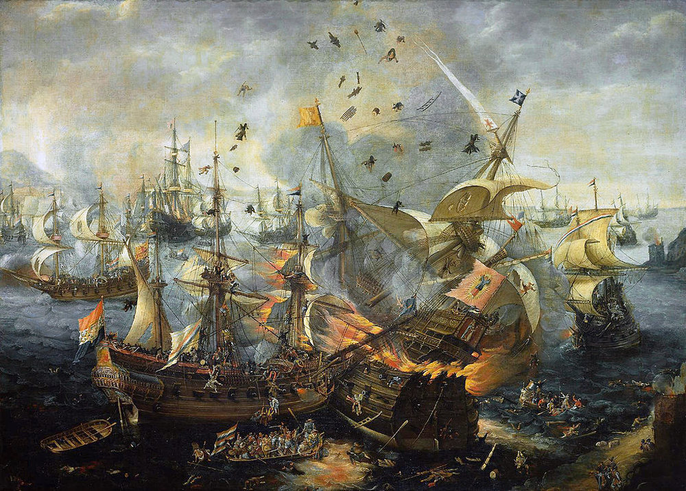 The Battle of Gibraltar, 25 April 1607, by Cornelis Claesz van Wieringen - www.rijksmuseum.nl  Image via  Wikimedia