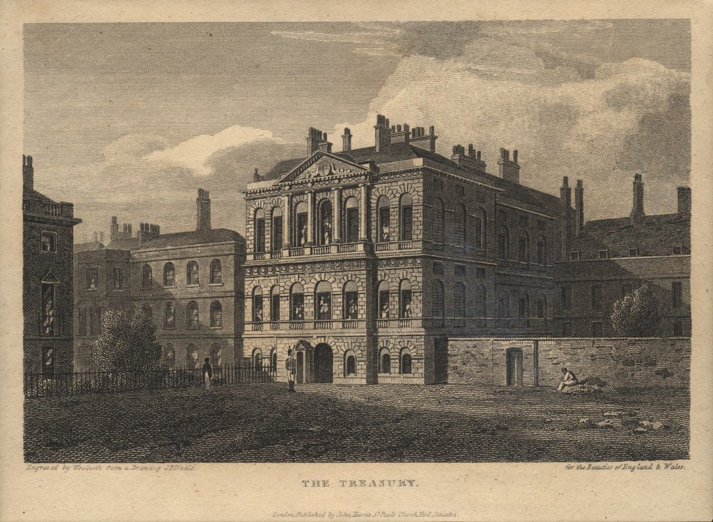 "The old View of the Treasury… Photo with acknowledgment to  Social.shorthand.com  ""The Treasury building: a surprising history"""