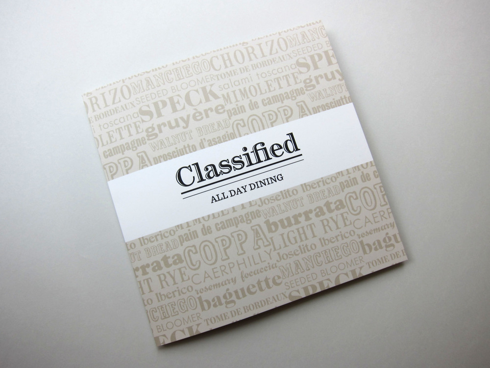 Press Room Group - Classified Restaurants - Art Direction