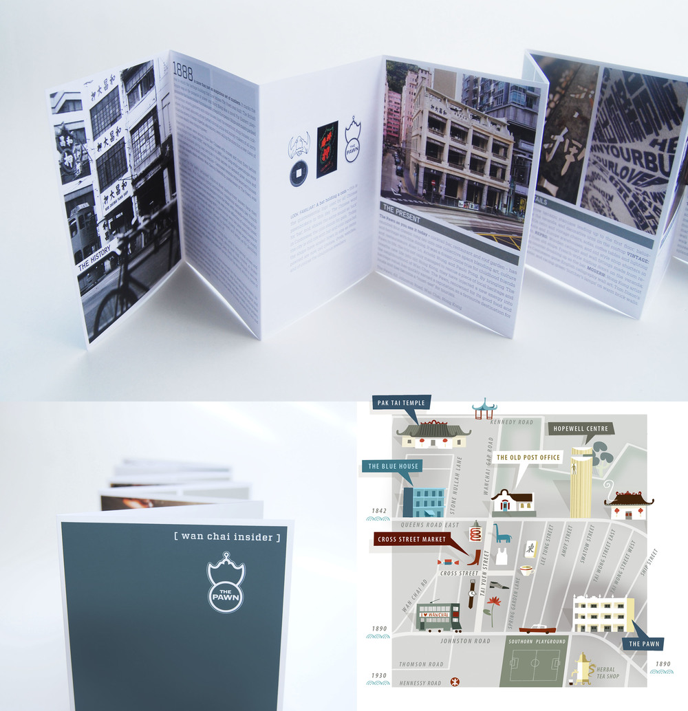 The Pawn - Wan Chai Insider Map - Graphic Design - Illustrations by Tania Willis