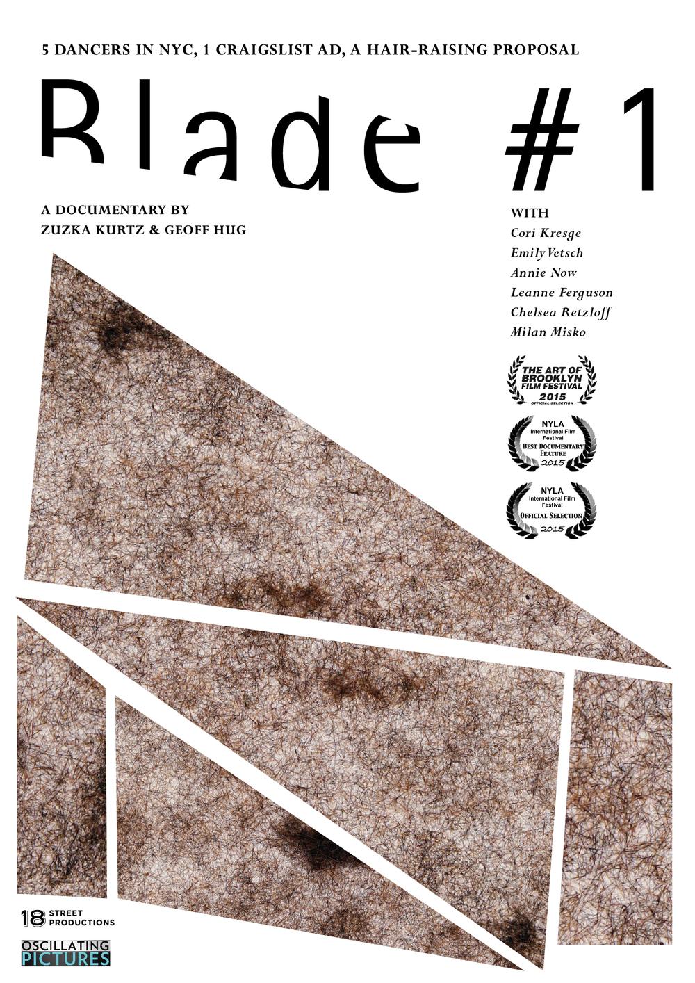 """""""Blade #1"""" - Design for film titles & poster"""