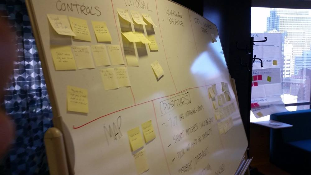 Consolidating and analyzing notes that were taken from the observation room for TOME's External Usability Playtest.