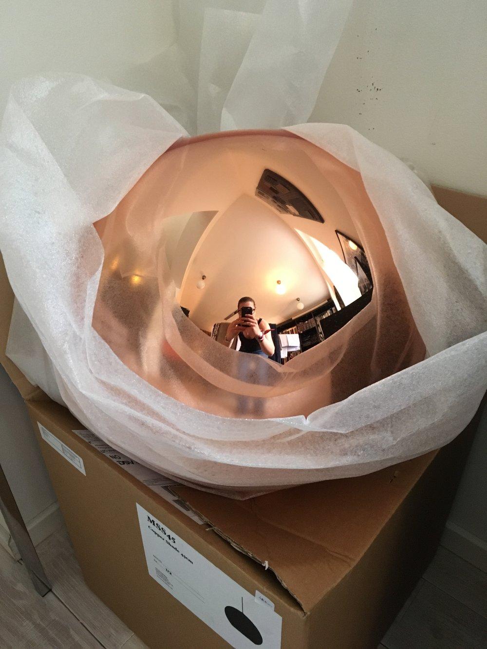 Tom Dixon lampe 45cm dia. - 4.400kr