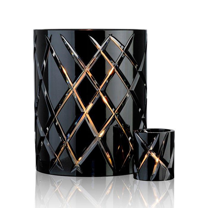 Stor og liten lykt i sort krystall fra Skogsberg og smart, priser fra 600 kr.