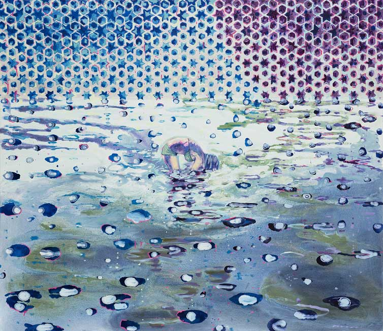 Stellar Dip, 2014. Oil on canvas, 130 X 150 cm