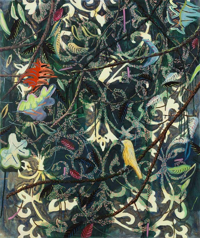 Canary, 2015. Oil on canvas, 100 X 85 cm.
