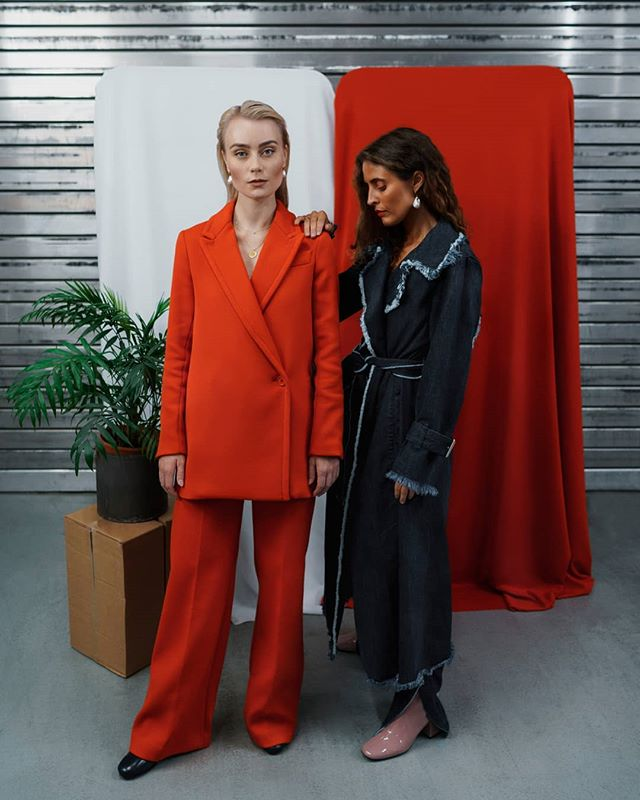 New @costumenorge out now, and we are featuring! Svean x @blanchecph  Models: @christinesundepaulsen and @michellefabiennee  Photo: @andreasgiaever Styling @tinern  AD: @christianhusan