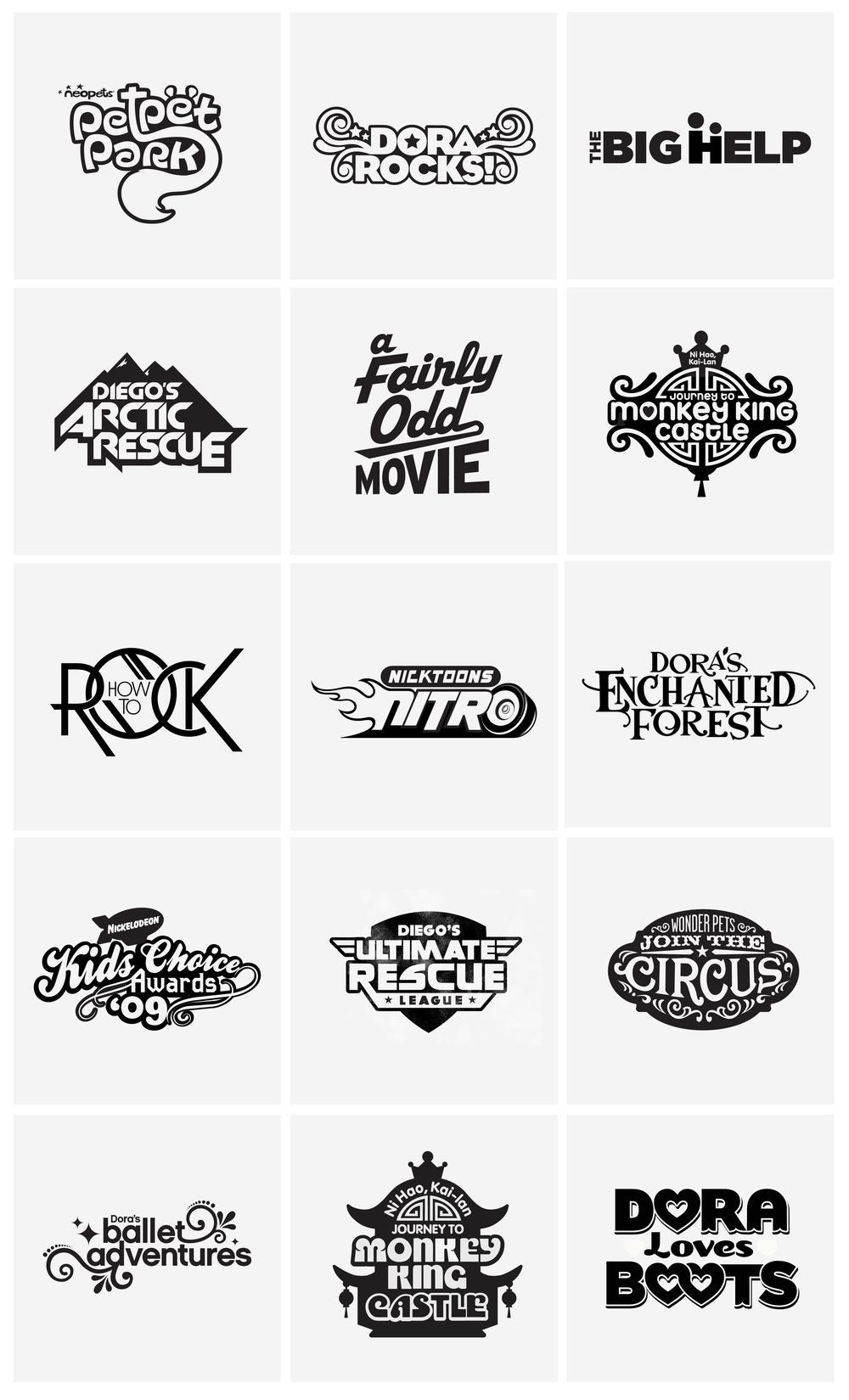 nickelodeon logos u2014 alisa blanter u2014design u0026 direction