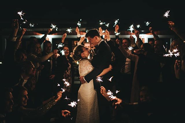 Sparklers and good vibes #wedding #love #lookslikefilm #hääkuvaajatig #bride #groom #documentaryweddingphotography #fall @nordiclovestories @haakuvaajat @junebugweddings