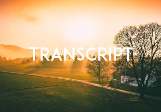 Das Leben ist lebenswert, wenn ... TRANSCRIPT