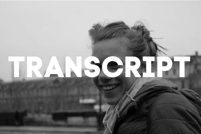 EINEN SCHLECHTEN TAG VERÄNDERN  | TRANSCRIPT