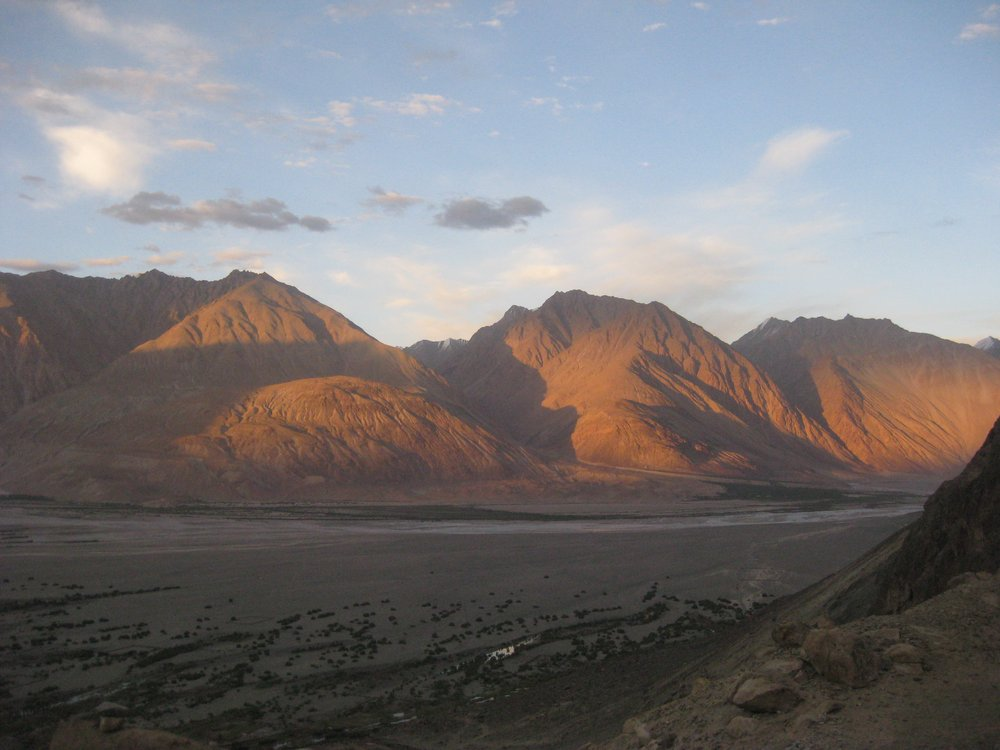 Evening light on the Nubra Valley