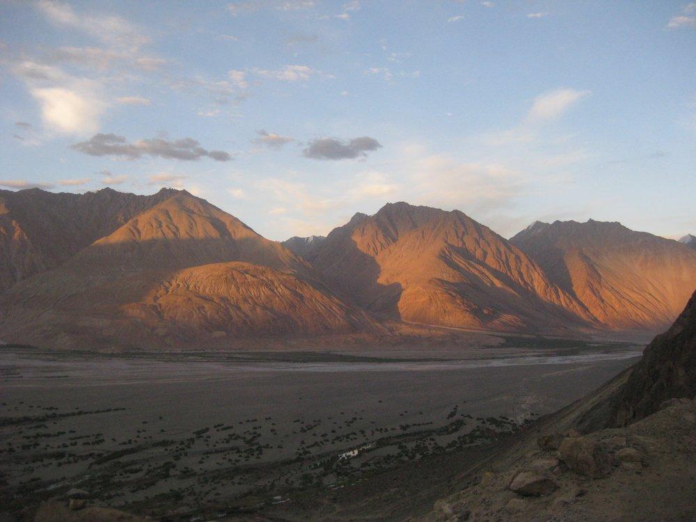 Evening light on the Nubra Valley