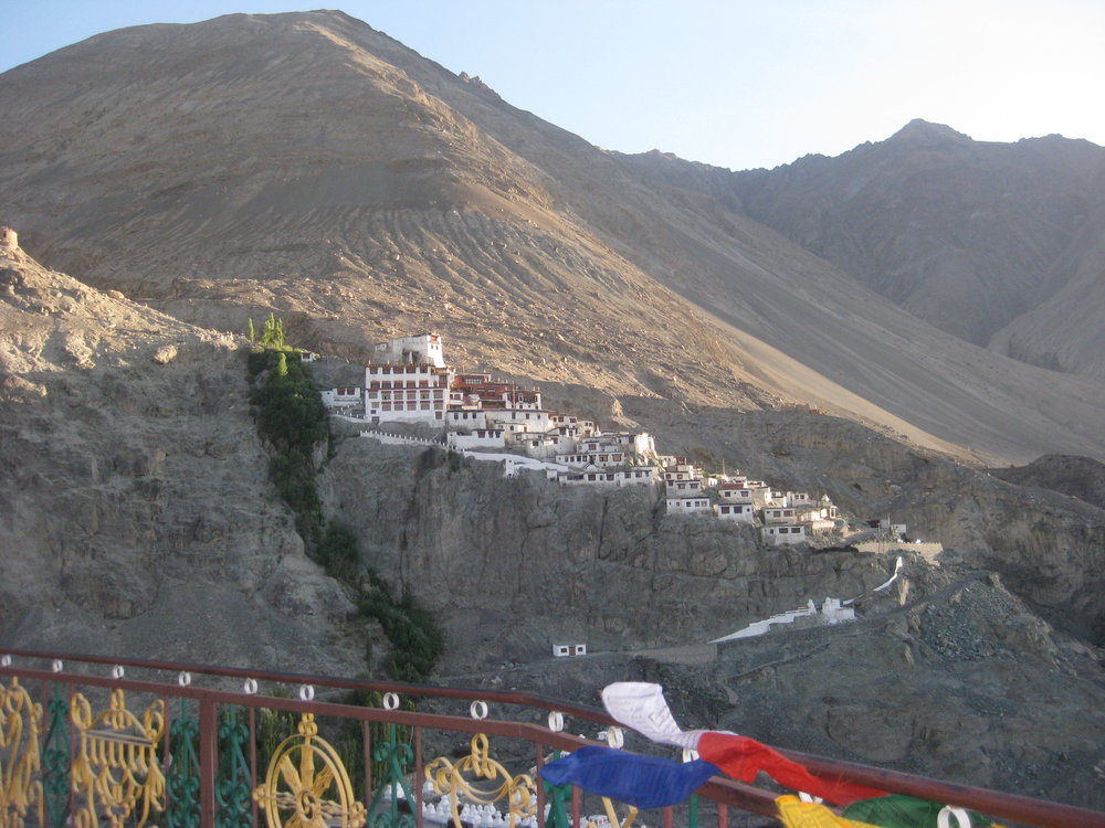 Disket Monastery seen from the Maitreya statue
