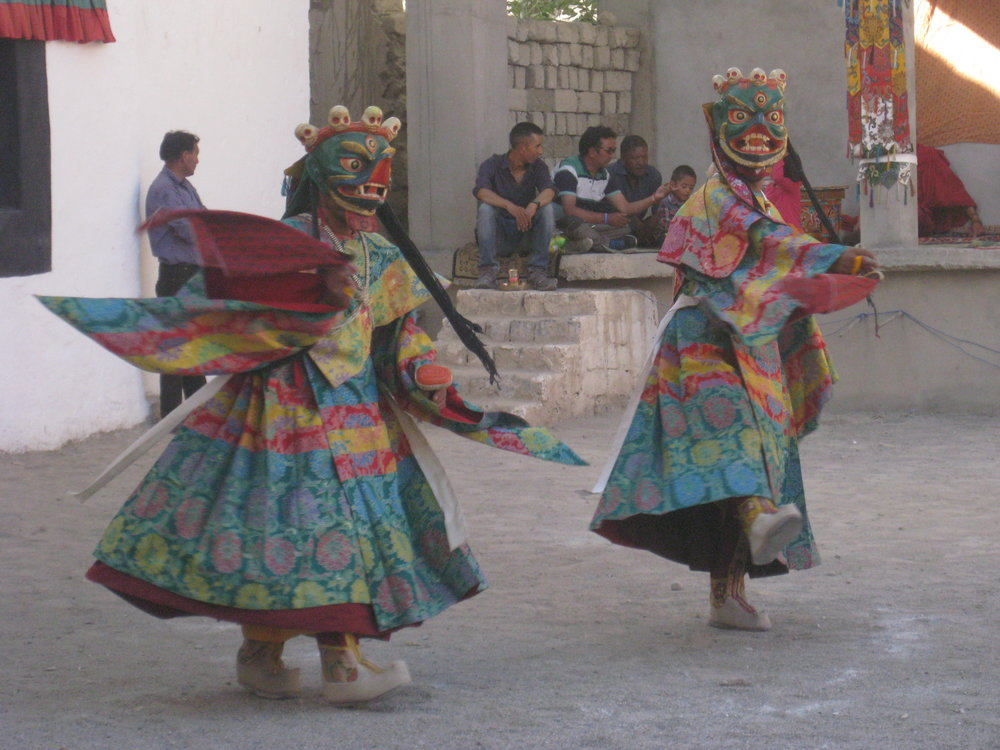 Cham dance at Phyang Monastery