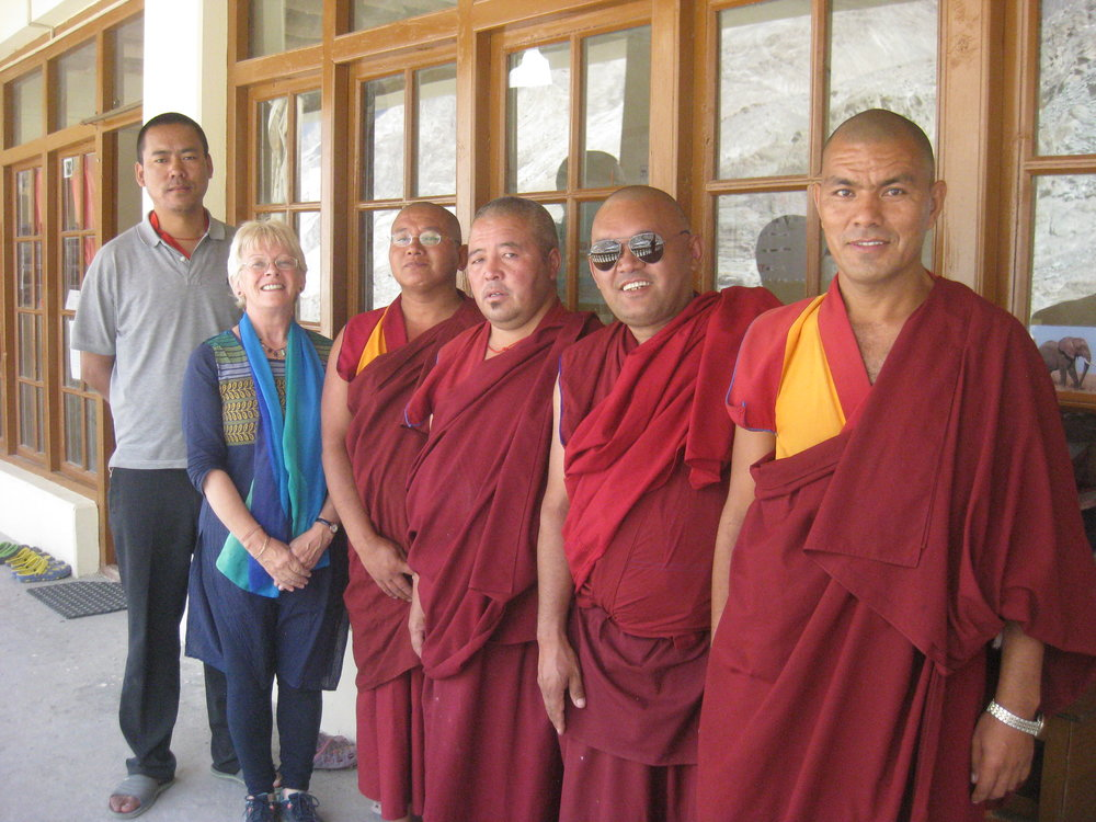 The teachers of GTC Monastic School with Mrs. Saywack