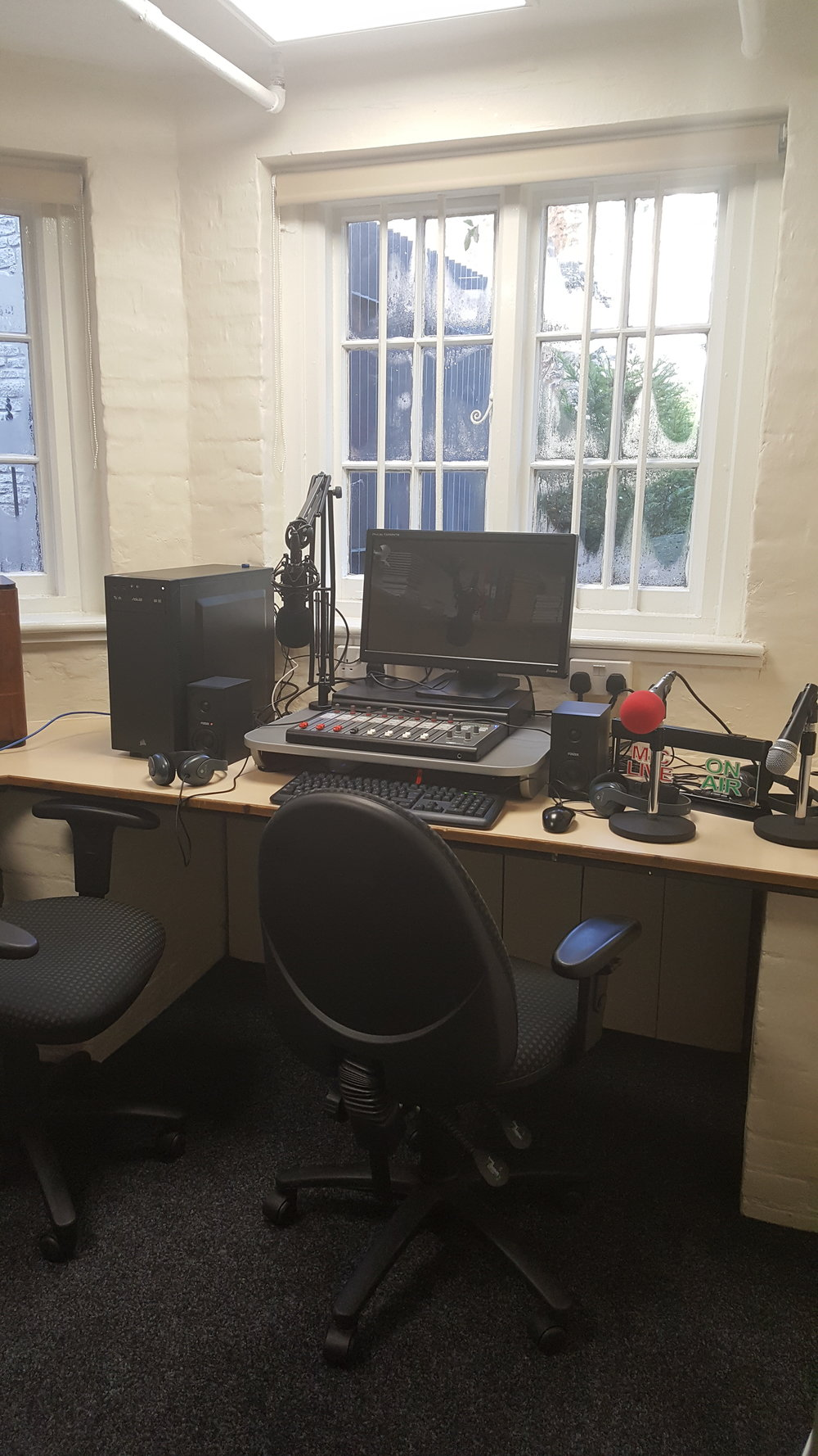 The final set up for the E23 studio