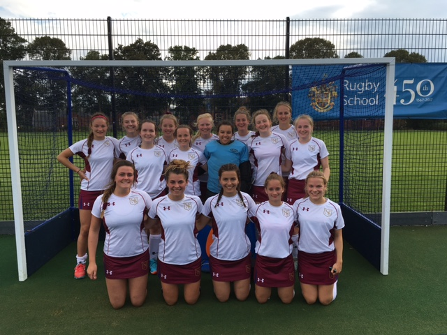 The 1st XI posing before winning the Rugby School preseason tournament Trophy