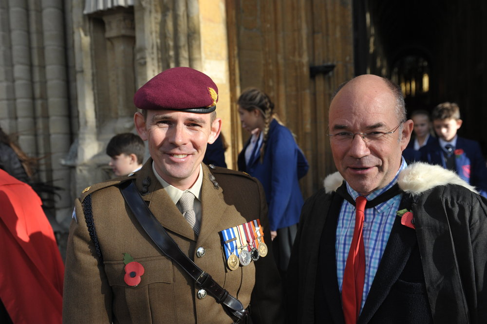 Left to right: Major David Stead and Mr Bedford-Payne