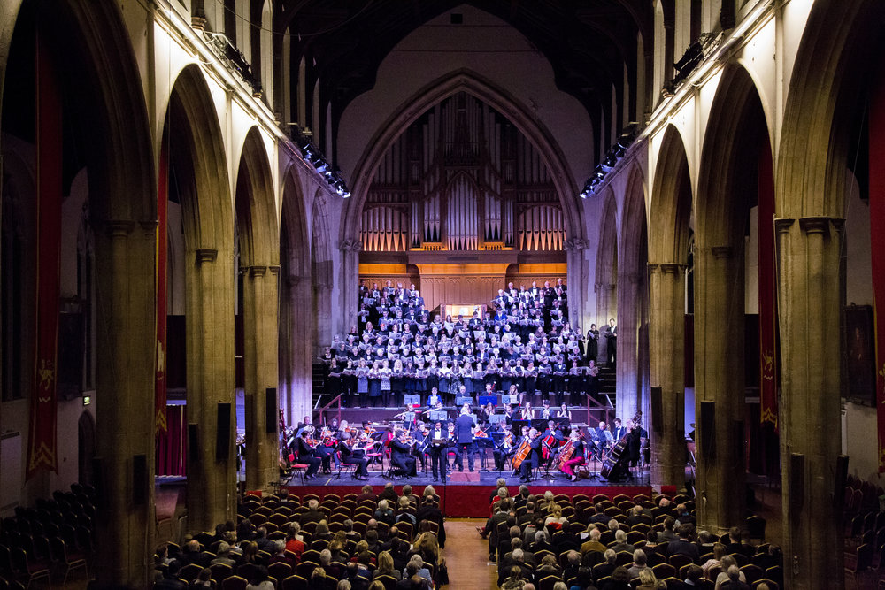 Norwich School Choral Society performing with the London Mozart Players