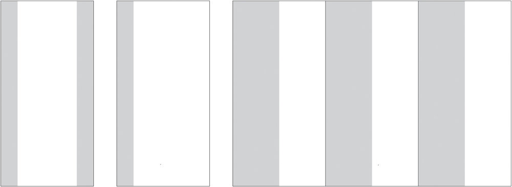 """Standard Double Edge Layout (108"""" height by full width), Single Edge Panel and Multi-Panel Variations"""