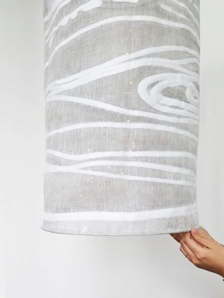E1426 SAMBA BIRCH Light shade fabrication by Kimberly Manne, Warp Designs