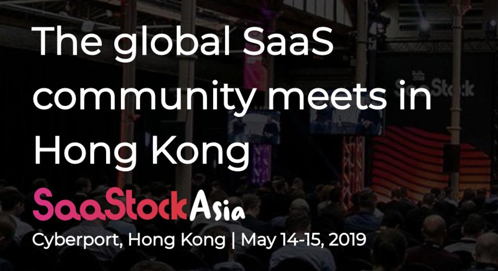 SaaStock Asia in Hong Kong May 2019