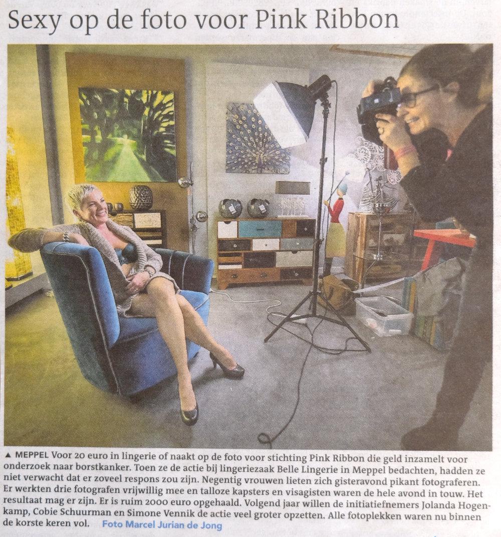 Voorpagina Dagblad v/h Noorden, Pink Ribbon actie
