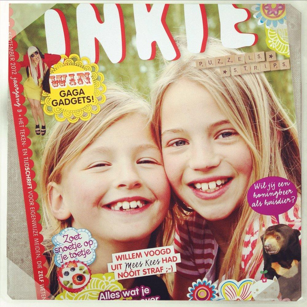 Op de cover voor Inkie