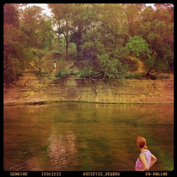 Wander over yonder. #Barton #Springs #Austin (Taken with instagram)
