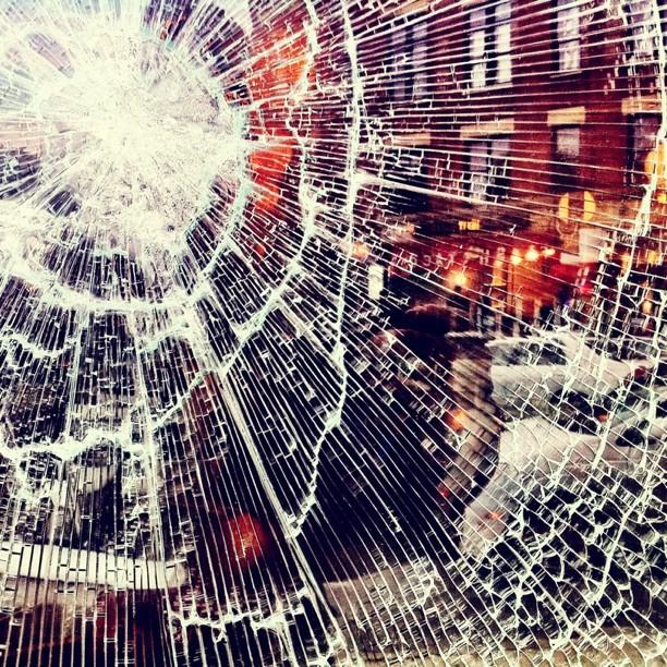 So inconvenient. So pretty. #broken #glass #AnnieLennox (Taken with instagram)