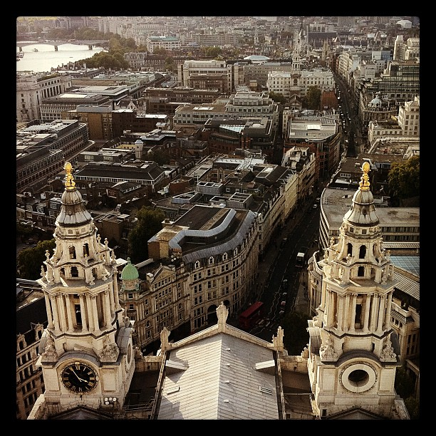 London from above. Atop st pauls cathedral. (Taken with instagram)