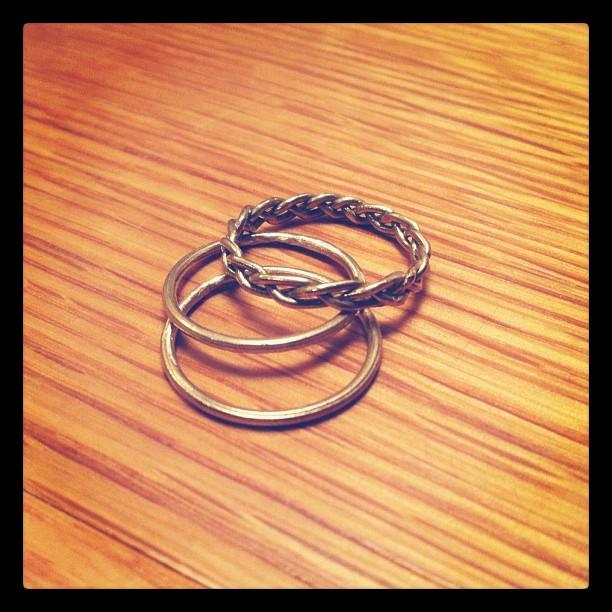 Custom rings for @danimkay! #shop #handmade #jewelry #rings (Taken with instagram)