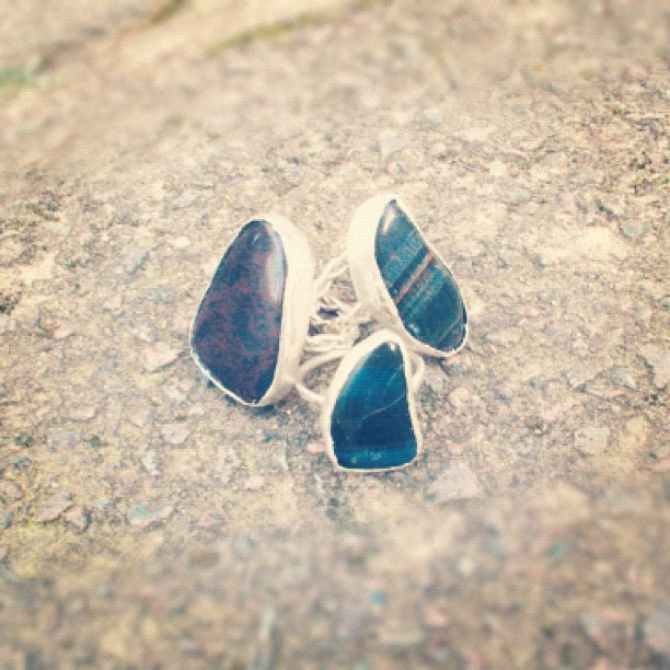 Stone rings with braided bands just listed at WeAreArrow.com!! #shop #handmade #jewelry (Taken with instagram)