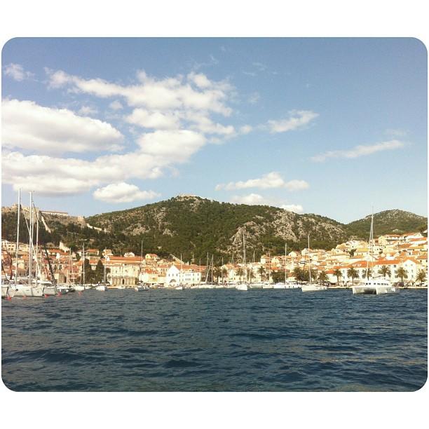 Hvar from afar. #hvar #croatia #heaven (at Hvar Island)
