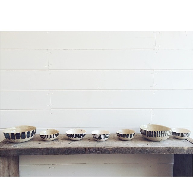 This just in! A gorgeous collection of bowls and spoons from @anakerin_kana ! [The small bowls are perfect for keeping your jewellery safe] #shop #handmade #London