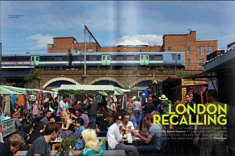 Netil-Market Hackney featured in Aer Lingus's in-flight magazine, Cara Magazine! If you put your binoculars on, you can see the WeAreArrow shop in the back! Cool!!