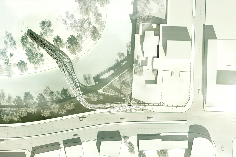 Site Plan for Salford Meadows Pedestrian Bridge
