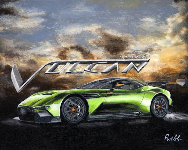 Aston Martin Vulcan Richard F Webb Fine Art