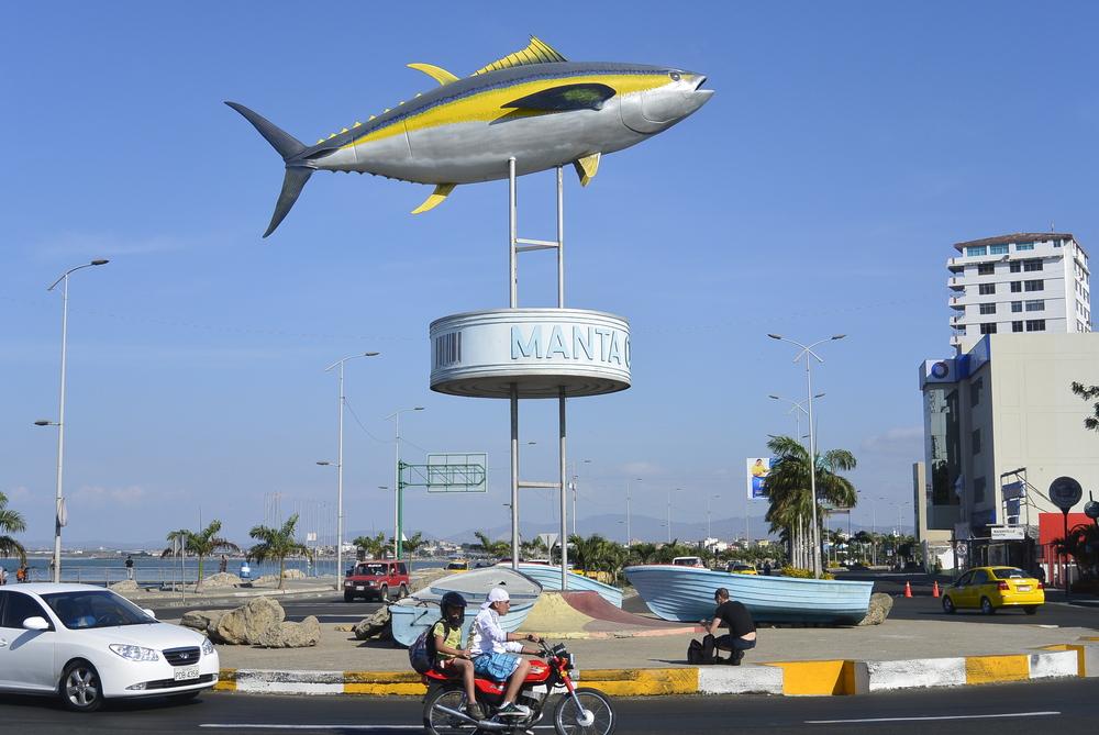 Tuna Fish Statue Manta Ecuador