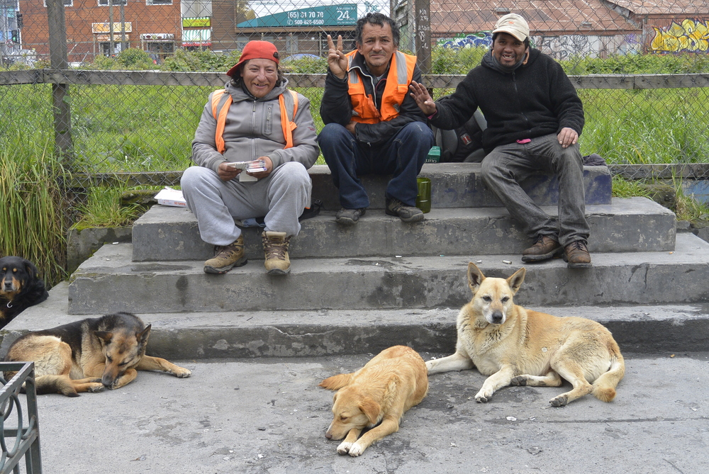 Puerto Montt Chile Men and Dogs